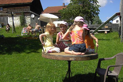 viele Spielgeräte auf dem Bauernhof in Waldkirchen