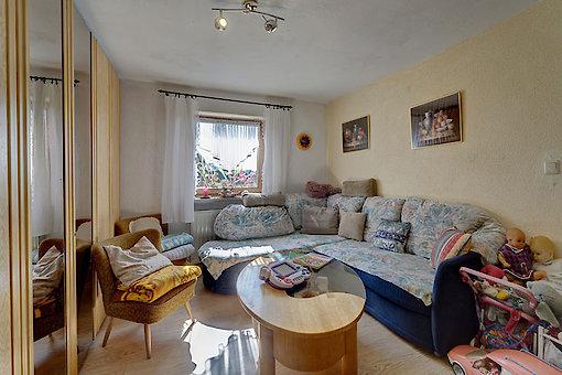gemütliches Wohnzimmer auf dem Zwergelhof in Waldkirchen